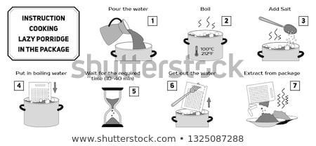 инструкции · информации · синий · завода · сведению - Сток-фото © heliburcka