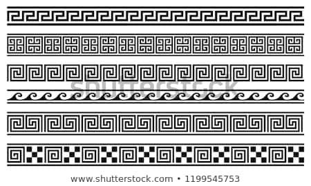Set Vektor griechisch Ornamente Wiederholung schwarz Stock foto © ElaK