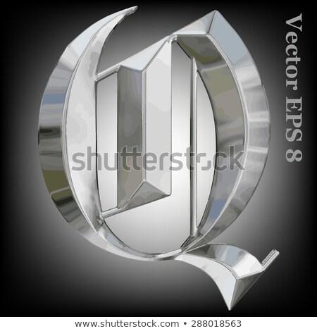 Rusty metal font Letter Q 3D Stock photo © djmilic