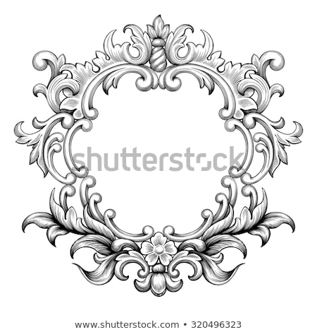 Klasik çerçeve vektör sınır monogram flora Stok fotoğraf © frimufilms