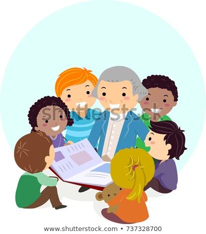 Waszyngton książki dzieci ilustracja człowiek Zdjęcia stock © lenm