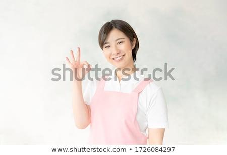 Anaokulu ayarlamak kız başarı iş çözüm Stok fotoğraf © toyotoyo