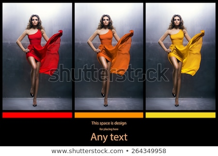 set of different colored skirts stock photo © bluering