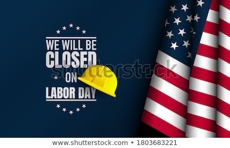 Flagge USA Plakat Vereinigte Staaten america Liste Stock foto © FoxysGraphic