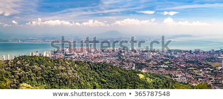 Panoramic View of Penang, Georgetown in Malaysia stock photo © galitskaya