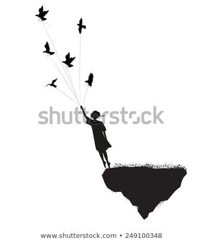 Isolé conte de fées terres illustration ciel fleur Photo stock © colematt