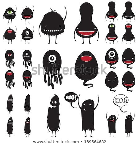 Cartoon fantasy obcych grupy Zdjęcia stock © izakowski