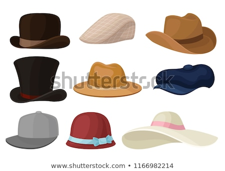 vector set of man and woman hats stock photo © netkov1