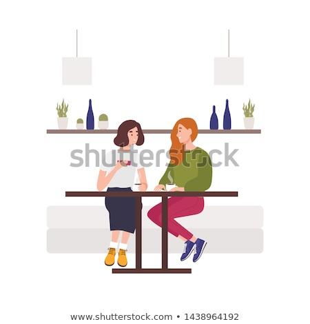 imprenditrici · parlando · business · pausa · pranzo · cafe · felice - foto d'archivio © pressmaster