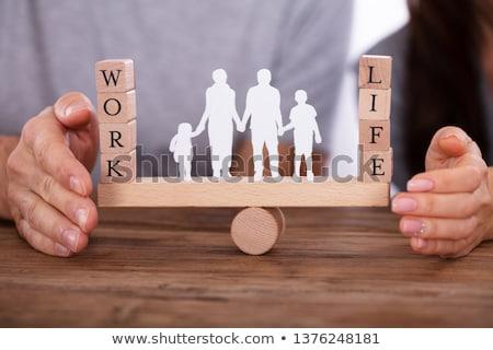 Pár munka élet egyensúly hinta család Stock fotó © AndreyPopov