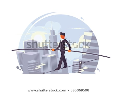 Tightrope walker going on rope Stock photo © jossdiim