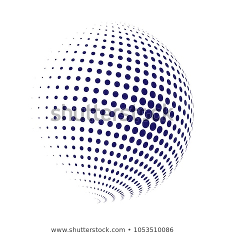 Abstract dotted halftone globe earth. Vector illustration isolated on white background. Stock photo © kyryloff