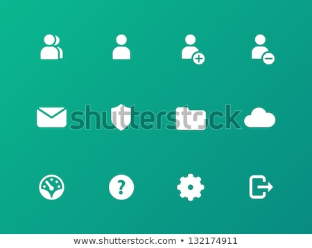 Stock photo: Green User Account Icon