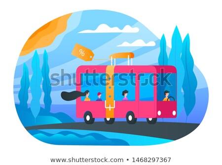 A buon mercato bus biglietti banner passeggeri Foto d'archivio © Genestro