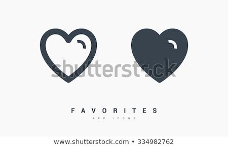 Favorites, heart minimal flat linear icon. Line icon for websites and mobile minimalistic flat desig Stock photo © kyryloff