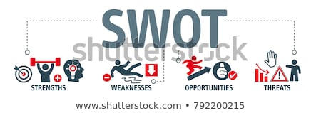 sablon · lehetőségek · fenyegetések · üzlet · siker · információ - stock fotó © rastudio