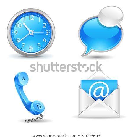 Photo stock: Hotline · lettres · téléphone · service · clients · ligne · main