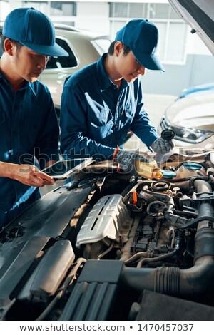 técnico · fábrica · máquina · mantenimiento · Asia · de · trabajo - foto stock © pressmaster