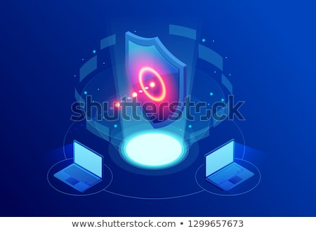 Antivirus software concept landing web page template Stock photo © Decorwithme