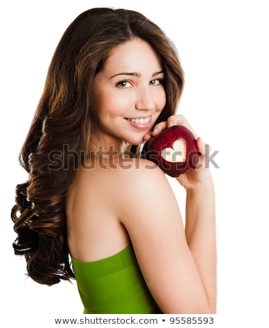 Perfect female figure and red apple  stock photo © Nobilior