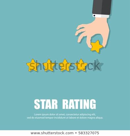 Cég állapot csillag szimbólum legjobb szolgáltatás Stock fotó © robuart