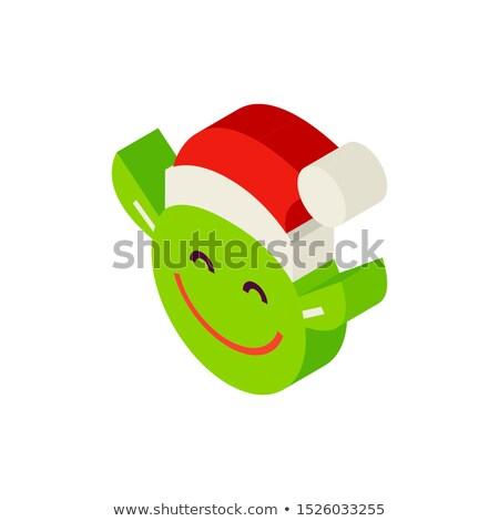 Christmas Elf Head Isometric Object Stock photo © Anna_leni