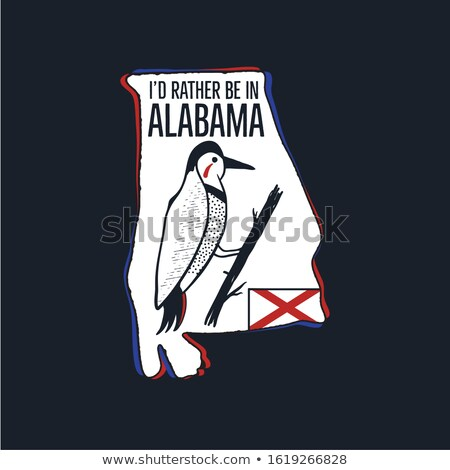 Vintage Alabama badge. Retro style US state patch, print for t-shirt and other uses. Included quote  Stock photo © JeksonGraphics
