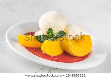 Portion of Peach Melba Stock photo © Alex9500