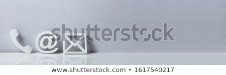 Popular Contact Web Icons On Desk Stock photo © AndreyPopov