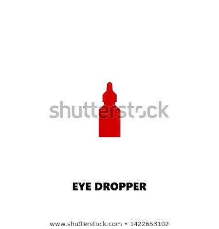 Stock photo: Dropper pipette icon. Vector illustration