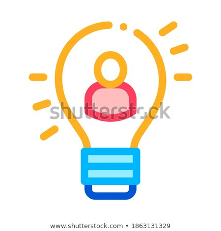 Quick Wits Human Talent Icon Vector Illustration Stock photo © pikepicture
