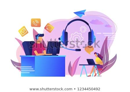 Contact centrum vector metafoor call center cliënt Stockfoto © RAStudio