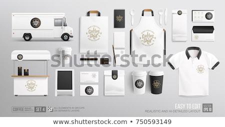Klasszikus étel teherautó vektor vázlat retro Stock fotó © YuriSchmidt