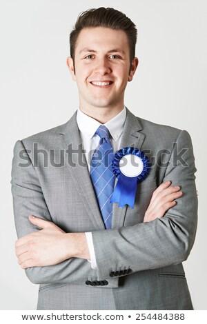 портрет политик синий заседание костюм Сток-фото © HighwayStarz