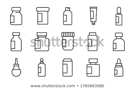 fejfájás · ikon · vektor · skicc · illusztráció · felirat - stock fotó © pikepicture