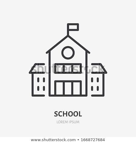 Academy Study Building Icon Vector Outline Illustration Stock photo © pikepicture