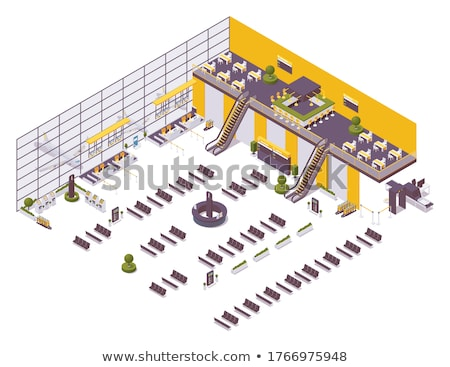 Complex of airport with terminal Stock photo © oxygen64