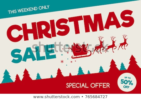 Final Christmas Sale, Santa Claus with Presents Stock photo © robuart