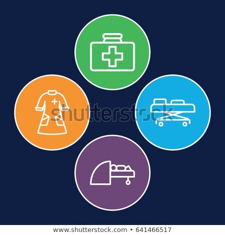 Mri arts medische toga kliniek vector Stockfoto © robuart