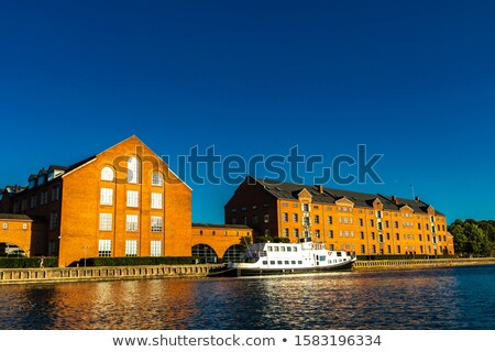 Velho tradicional porta Copenhague Dinamarca ver Foto stock © boggy