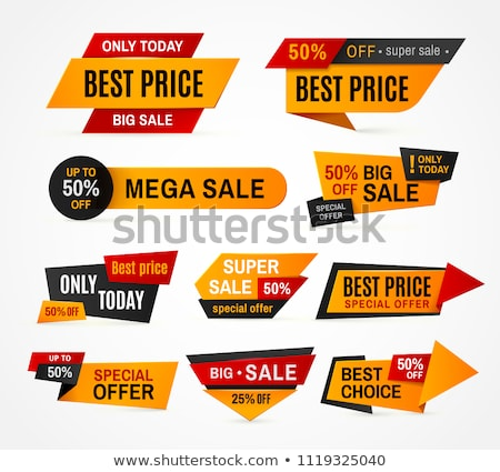 Shopping Stickers Set, Offer and Discount Vector Stock photo © robuart