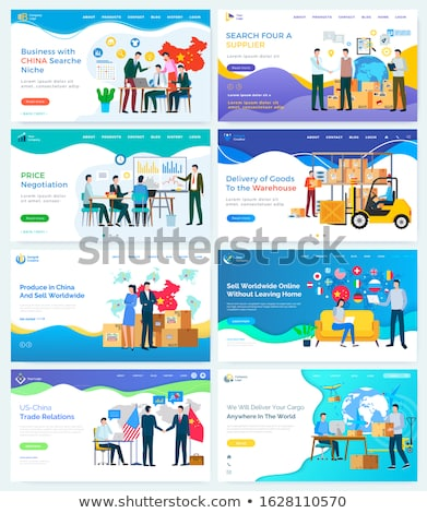 China Search Niche People Teamwork Webpage Vector Stock photo © robuart