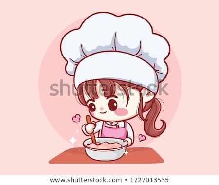 Férfi főzés konyha dekoráció hobbi vektor Stock fotó © robuart