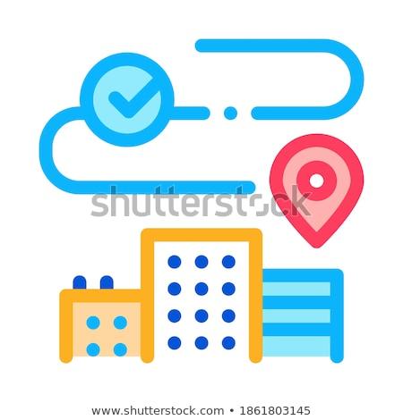 Residencial edificios icono vector ilustración Foto stock © pikepicture