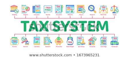 Impuesto financiar mínimo infografía banner vector Foto stock © pikepicture