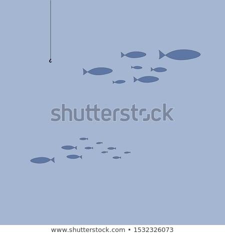 Pescaria gancho isca água peixe natação Foto stock © Mps197