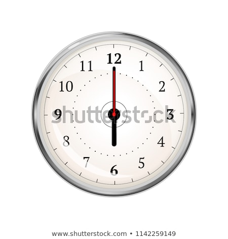 Realistic clock face showing 06-00 on white Stock photo © evgeny89
