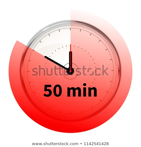 Realistic clock face with fifty minutes timer on white Stock photo © evgeny89