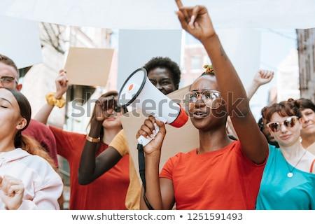 Vreedzaam protest groep eenheid diversiteit Stockfoto © Lightsource