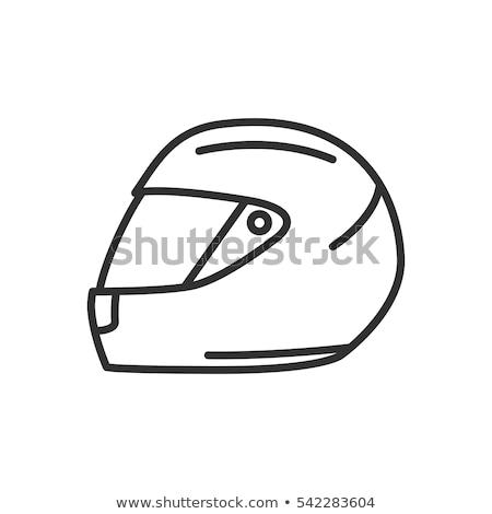 вектора черный Мото шлема икона спорт Сток-фото © nickylarson974